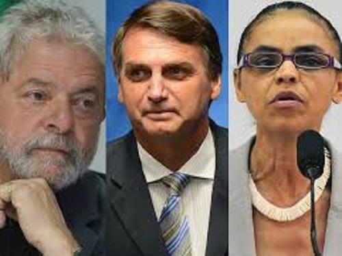 Lula lidera; Bolsonaro e Marina empatam em 2º lugar para 2018, diz Datafolha