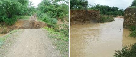 Contendas do Sincorá: Moradores do povoado de Bravo ficam ilhados após rompimento de ponte