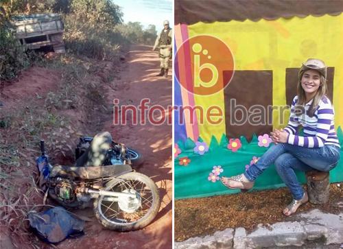 Mulher morre e criança de 07 anos fica ferida em acidente na Zona Rural de Barra da Estiva