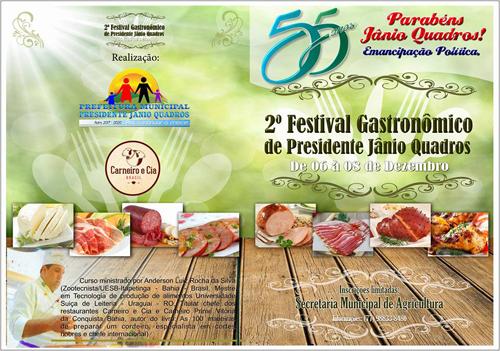 Prefeitura de Jânio Quadros promove o segundo  Festival de Gastronomia no município
