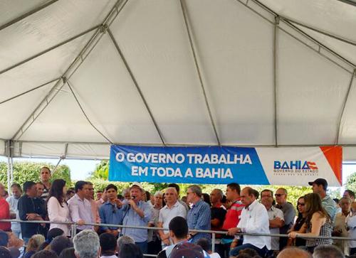 Público pequeno e a ausência de Rui Costa marcaram as inaugurações em Guajeru