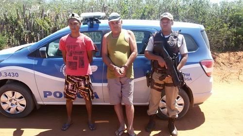 Acusados de homicídio e pedofilia são presos na zona rural de Maetinga