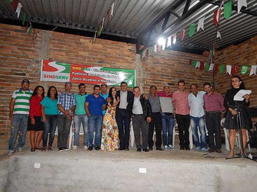 Sindicato dos servidores de Maetinga e Jânio Quadros inaugura sede própria
