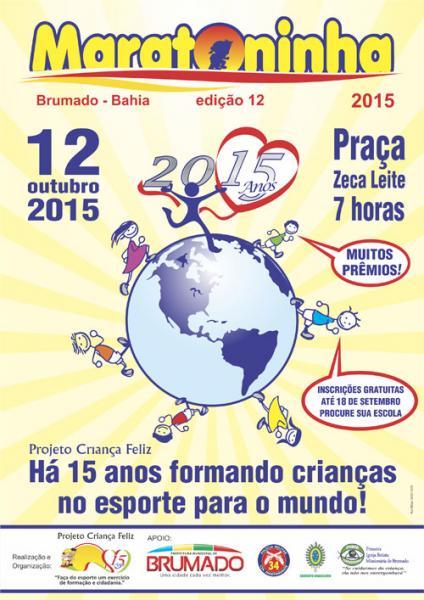 Vem ai a 12ª Edição da Maratoninha em Brumado