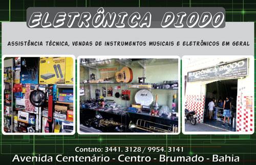 ELETRÔNICA DIODO CONSERTOS EM GERAL E VENDAS DE INSTRUMENTOS MUSICAIS