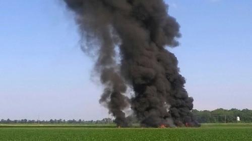 Queda de avião militar no Mississippi mata 16