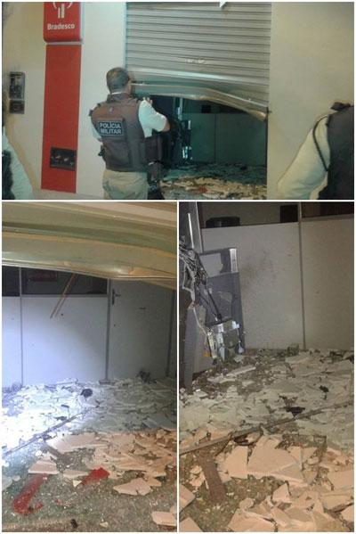 Bandidos fortemente armados tentam explodir caixa eletrônico no distrito de Mutans