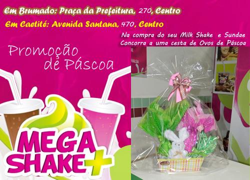 Promoção de Páscoa da Mega Shake Mais
