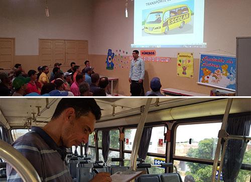 Ônibus escolares passam por vistoria e condutores por capacitação em Rio do Antônio