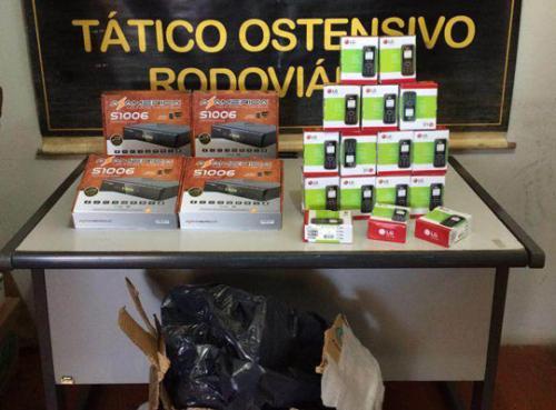 Policia Rodoviária apreende material sem nota fiscal na BR-030 próximo a Caetité