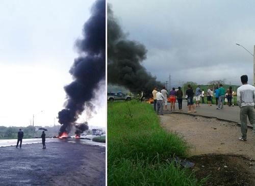 Em protesto motoristas e populares bloqueiam a BA – 262 e BR – 030