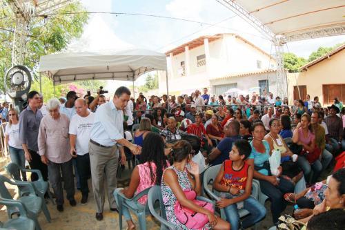 Governador Rui Costa esteve em Condeúba, no projeto Voluntários do Sertão