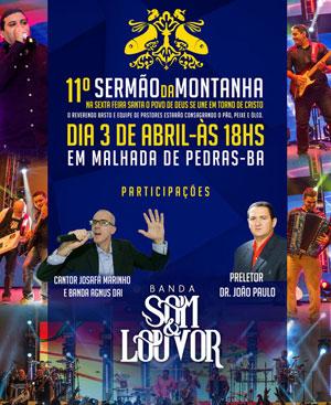 Em abril Malhada de Pedras receberá a Banda Som e Louvor no tradicional Sermão da Montanha