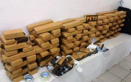 Conquista: Polícia encontra 139 tabletes de maconha em forro de casa
