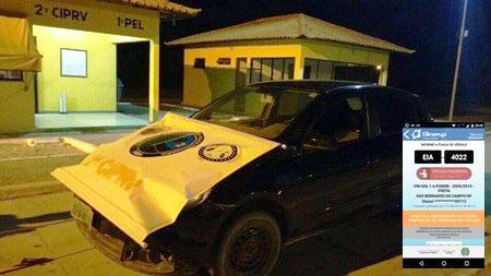 Carro roubado é recuperado pela Polícia Rodoviária Estadual em Tanhaçu