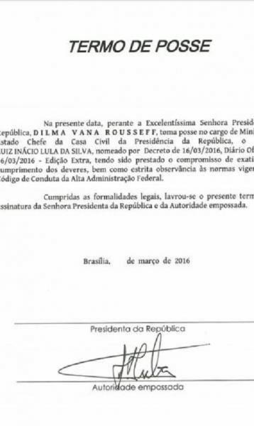 Governo divulga termo de posse de ministério assinado apenas por Lula