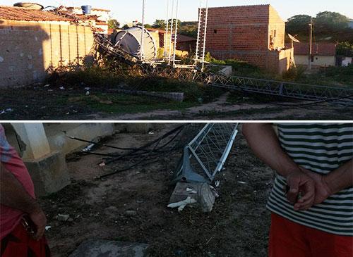 Torre da Oi cai e serviços de internet e telefonia ficam prejudicados em Aracatu