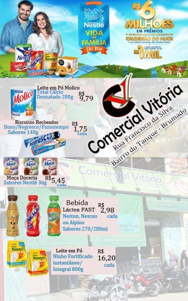 O Comercial Vitória em Parceria com a Nestlê está com grandes promoções
