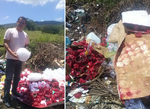 Weliton Lopes denúncia mau exemplo da SESOC ao despejar lixo em via pública
