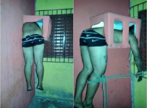 Homem tenta assaltar loja e fica preso em caixa de ar-condicionado